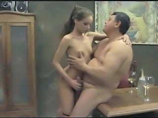 Daddy Daughter Drunk Old and Young Skinny Small Tits Teen Vintage