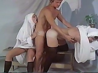 Doggystyle Hardcore Nun Threesome Uniform Vintage