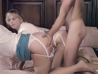 Doggystyle Lingerie Teen Threesome Vintage