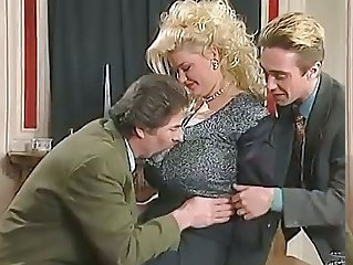 Big Tits Blonde Chubby European German  Threesome Vintage