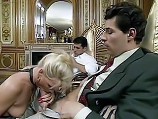 Blonde Blowjob  Threesome Vintage