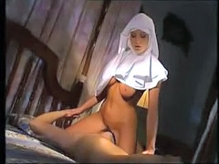 Big Tits Facesitting Licking  Natural Nun Uniform Vintage