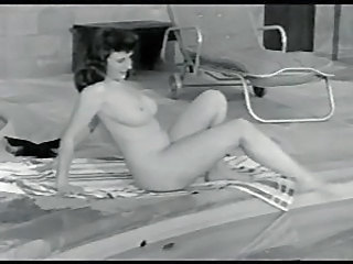 Nudist Outdoor Pool Vintage