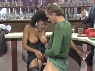 Drunk Ebony Interracial  Natural Vintage