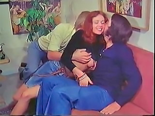 European Redhead Teen Threesome Vintage