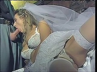 Blowjob Bride Lingerie  Stockings Vintage