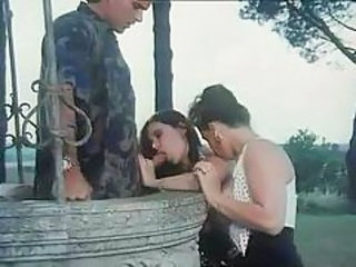 Blowjob Outdoor Threesome Vintage