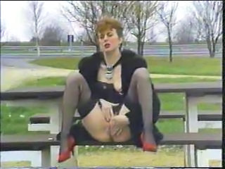 European German Masturbating Mature Outdoor Stockings Vintage
