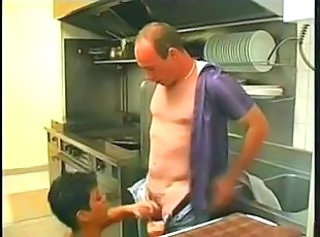 Blowjob European French Kitchen  Vintage