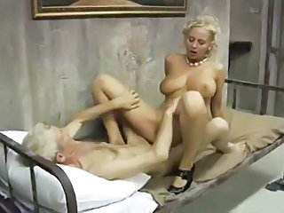 Big Tits  Natural Pornstar Riding Vintage