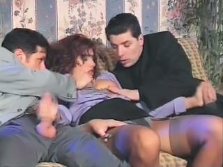 Clothed European Handjob Italian  Stockings Threesome Vintage
