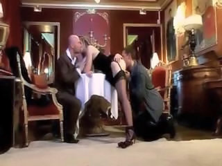 Clothed European French Pornstar Stockings Threesome Vintage