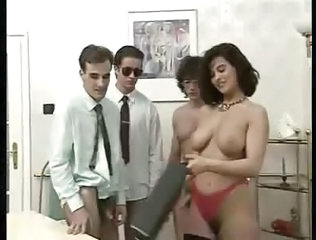European Gangbang Office Vintage