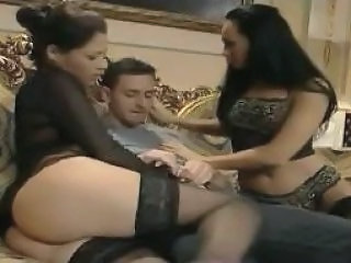 Asian Stockings Threesome Vintage