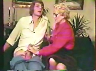 Glasses Handjob Mature Mom Old and Young Vintage