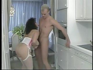 Handjob Kitchen  Pornstar Stockings Vintage