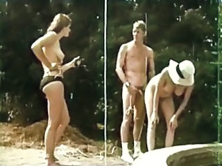 Amateur  Outdoor Threesome Vintage