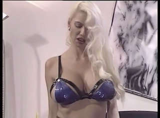 Big Tits Blonde European German Latex Lingerie  Natural Pornstar Vintage
