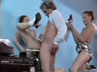 Student Teen Threesome Vintage