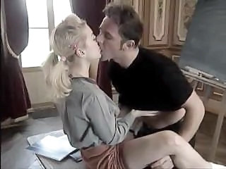 Kissing Student Teacher Teen Vintage